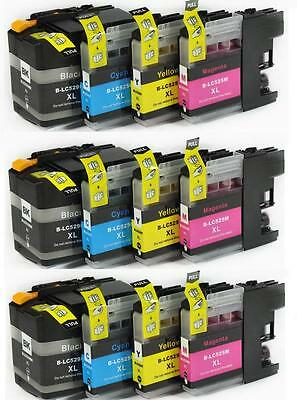 12 TINTAS COMPATIBLES NON OEM LC529 LC 529 LC525 LC 525 XL Brother MFC-J200