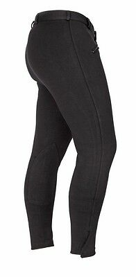 NEW Shires Mens Gents Saddlehugger Cotton Riding Breeches Black / Beige FREE P&P