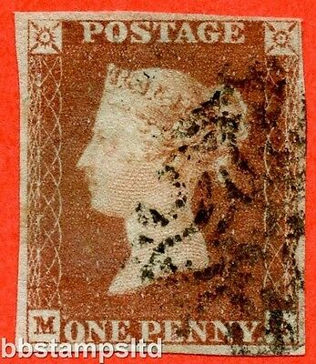 "SG. 7. AS69. "" MG "". 1d red brown. Plate 10. A fine used example."