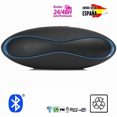 Mini Altavoz Portatil externo bluetooth REPRODUCE USB MP3 INALAMBRICO RADIO AZUL