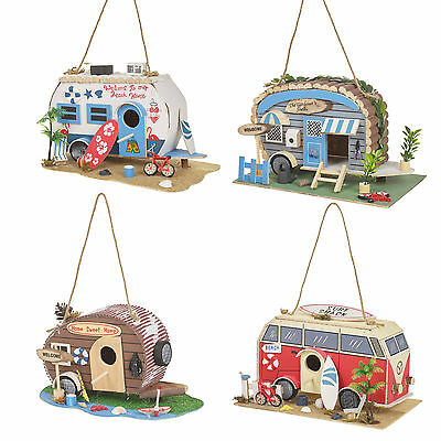 Garden Camper Van Bird House Feeder Ornament Feeding Table Hanging Decorative