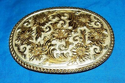 El Arturo Crumrine Cowboy Western Belt Buckle Gold Silver Look Mens Womens Rodeo