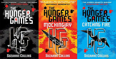 The Hunger Games Trilogy 3 Book Set Catching Fire /Mockingjay By Suzanne Collins