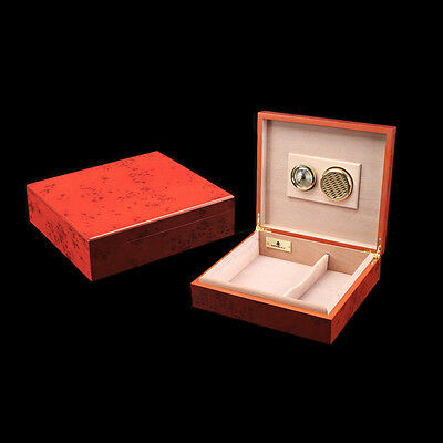 Spanish Cedar Wood Mini Travel Cigar Humidor With Humidifier Hygrometer Cohiba