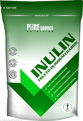 Pure Source Nutrition Inulin Fructo-Oligosaccharide (FOS) 250g / 500g / 750g 1kg