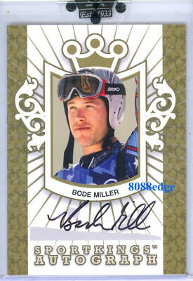 2008 Sportkings Autograph Auto Gold: Bode Miller /10 Olympic World Cup Champion