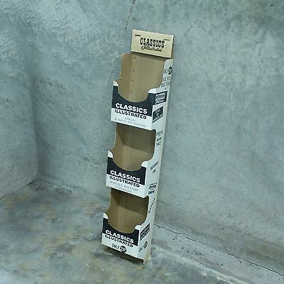 Vintage Classics Illustrated Cardboard Store Display Stand Unused