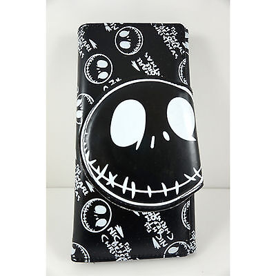 Nightmare Before Christmas Halloween Billfold Coin Pouch Bag Long Purse Wallet