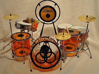 Led Zeppelin Jon Bonham Miniature Replica Drum Set NEW IN BOX