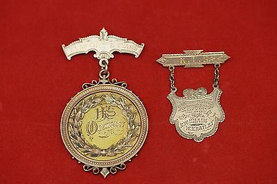 1890 10k Gold Medal from Savanna Indian Territory, Clarence Evans Pin