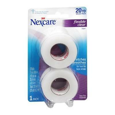 Nexcare First Aid Flexible Clear Tape 1 Inch X 10 Yards 2 Per Pack Each