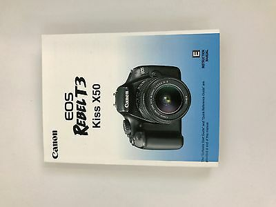 Canon Rebel T3, Kiss X50,  EOS 1100D Genuine Instruction Owners Manual Book