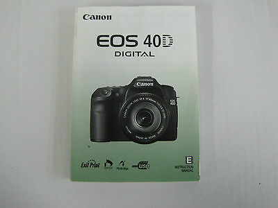 Canon EOS 40D D40 Genuine Instruction Owners Manual EOS 40D Book Original NEW