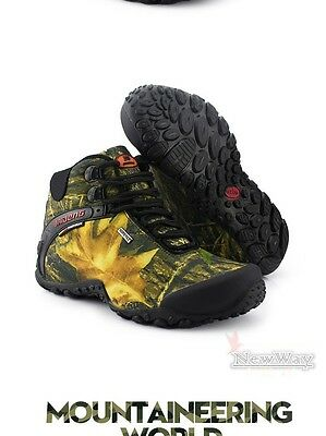 Shoes fishing hiking waterproof canvas boots anti-skid breathable