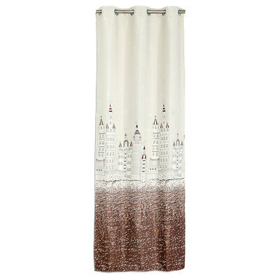 100x250cm Castle Window Cloth Curtain Drape Living Room Bedroom Decor Coffee
