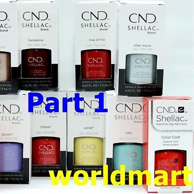 CND Shellac Gel Polish UV/LED Gel Color Base Top Coat /Choose Any Color PART 1*