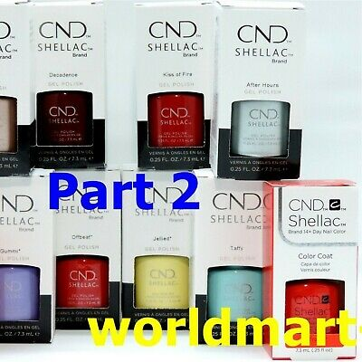 CND Shellac Gel Polish UV/LED Gel Color Base Top Coat /Choose Any Color PART B*