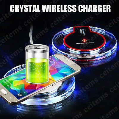 Slim Qi Wireless Charging Charger Pad For Samsung Galaxy Note 5 7 S6 S7 edge+