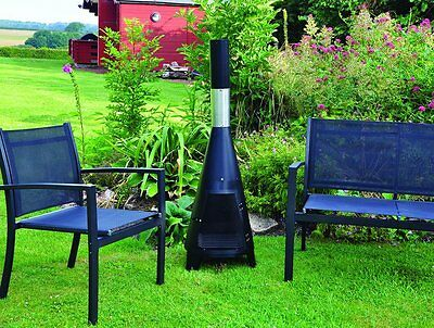 Large Chimnea Log Burner Fire Pit Patio Steel Garden Outdoor Wood Burner Stove