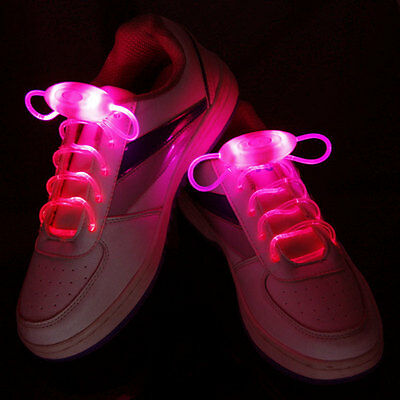 1 Paire Lacets Lumineux A LED ColorLight Chaussure Collier Bracelet Neuf - Rouge
