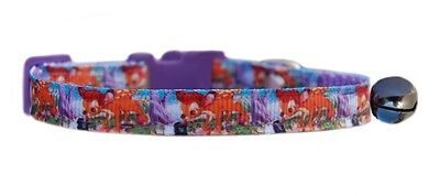 "Lilac  pink Disney's  ""Bambi ""   safety kitten cat collar 3 sizes"