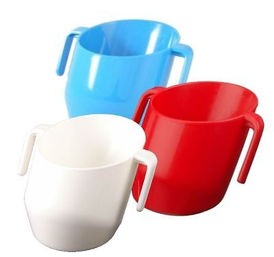 Bickiepegs DOIDY CUP TRIPLE Pack - Toddler Training Weening (Blue, Red + White)