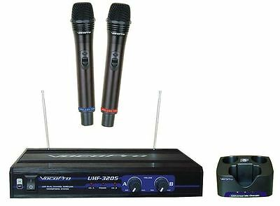 Vocopro UHF-3205 Dual Rechargeable Karaoke Microphones With Receiver