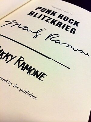 Marky Ramone SIGNED Book Punk Rock Blitzkrieg Autographed First Edition w/ COA