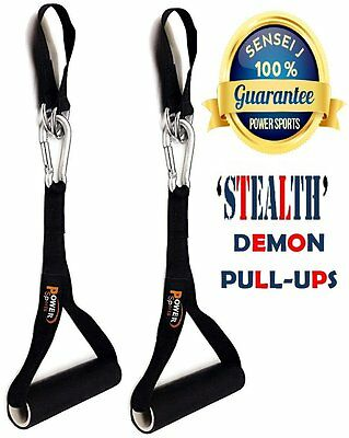 DEMON Pull Up Handles Gymnastics Hanging Gym Chinning Bar Attachment Straps