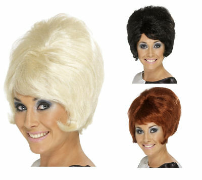 Ladies 1960s Beehive Fancy Dress Wig 60s Short Wig Retro