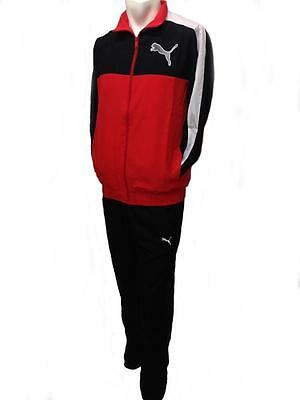 Puma fun graphic men's red black woven regular fitness sports full tracksuit