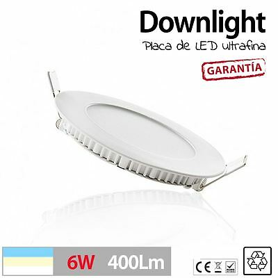 Downlight LED SLIM Redondo Extraplano 6W para Interior Luz Techo plafon LED