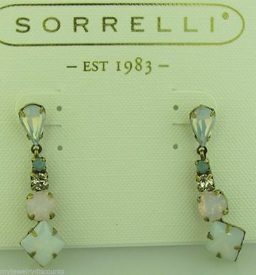 Sorrelli Rose water Earrings ECP8AGROW Antique gold tone