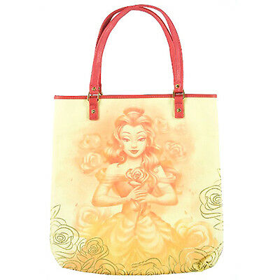 disney parks beauty and the beast belle canvas tote bag new with tags