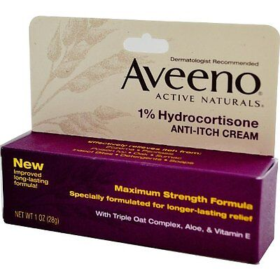 Aveeno Maximum Strength Anti-itch Cream, 1% Hydrocortisone - 1oz Each