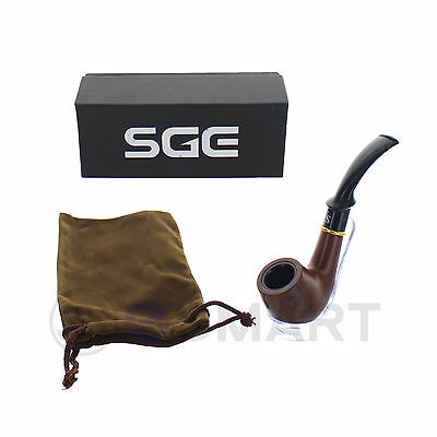 Smoking Wooden Wood Pipe Smooth Surface Durable Tobacco Cigarettes Cigar Gift