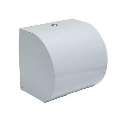 Paper Towel Dispenser for Rolls, White Powder-Coated, 18.5x22.5x21cm, Washeroom
