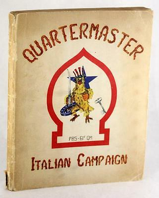 History Of The Quartermaster Peninsular Base Section Italian Campaign 1943-45