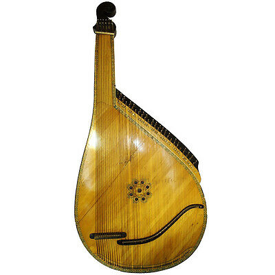 Antique Traditional Ukrainian Bandura, 55 Strings, Original Folk Instrument, 386