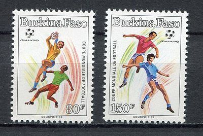 s6201) BURKINA FASO 1990 MNH** WC Football'90 - CM Calcio 2v.