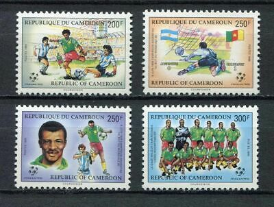 s6210) CAMEROUN 1990 MNH** World Cup Football'90 - Coppa del Mondo Calcio 4v.