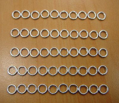50Pc 925 Solid Sterling Silver Round Shape Jump Rings Jewelry Findings 6Mm