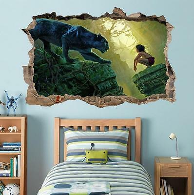 The Jungle Book Mowgli Smashed Wall Decal Graphic Wall Sticker Art Mural H457