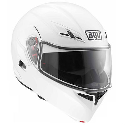 AGV COMPACT SOLID WHITE flip-up Open face Street Motorcycle Helmet