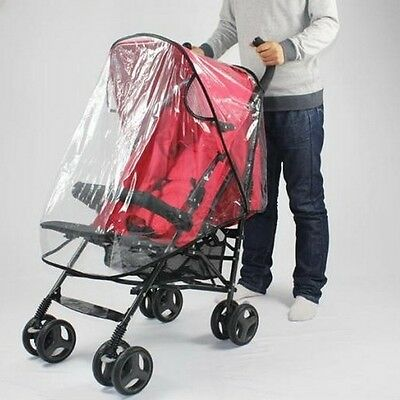 Waterproof Standard Stroller Shield Weather Rain Cover Wind Infant Baby Canopy B