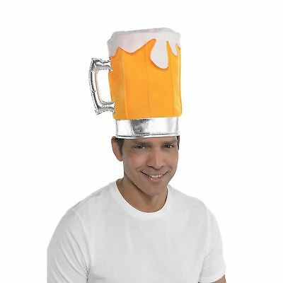 Beer Pint Pot Glass Hat Fancy Dress Stag Party Costume Accessory New