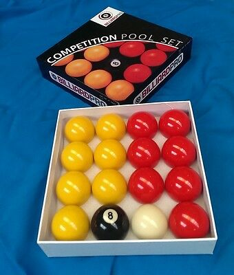"""Competition 2""""(51mm) Reds & Yellows Billiard Pro Pool table Balls match quality"""