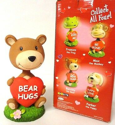 New in Box, Valentine's Day Barclay the Bear Bobblehead 5.5'' Tall!!!