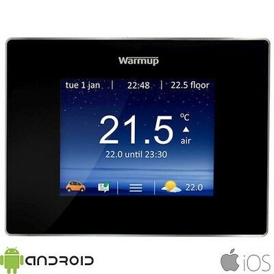 Warmup 4iE WiFi Digital Touchscreen Programmable Onyx Black Thermostat