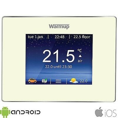 Warmup 4iE WiFi Digital Touchscreen Programmable Bright Porcelain Thermostat
